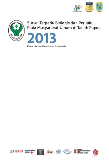 Book Cover: Survei Terpadu Biologis dan Perilaku Papua - 2013