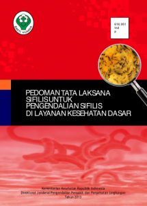 Book Cover: Pedoman Tatalaksana Sifilis di Layanan Kesehatan Dasar