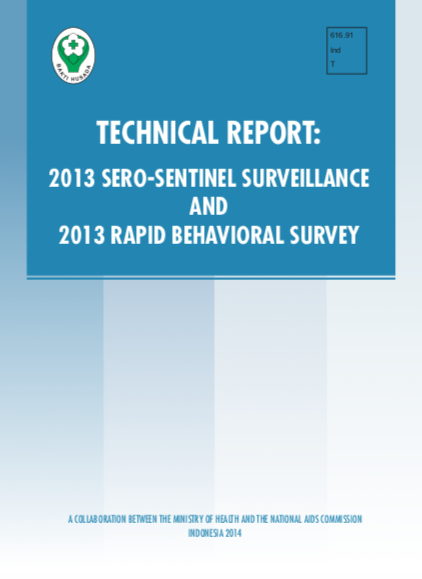 Book Cover: Technical Report: 2013 SERO-SENTINEL SURVEILLANCE AND 2013 RAPID BEHAVIORAL SURVEY