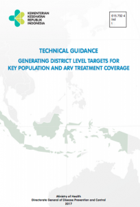 Book Cover: Technical Guidance generating district level targets for key population and ARV treatment coverage