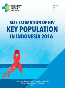 Book Cover: Size Estimation of HIV Key Population in Indonesia 2016
